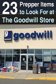 Survival Food Shopping At Thrift Stores Like The Goodwill Store Is A Great Way To Save Money On Prepper Items Its Extremely Satisfying