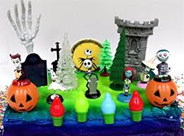 Nightmare Before Christmas Bath Toy Set by Amazon Com Nightmare Before Christmas 17 Piece Birthday Cake