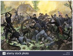 Union Troops Under General Ulysses S Grant Recapturing Artillery During The Battle Of Shiloh 1862