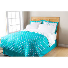 Mainstays Ms Dot Bnb Microfbr Turquoise Cove Twin Walmart