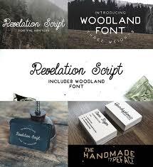 Retro Revelation Script And Woodland Font