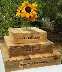 Rustic Repurposed Wood Cake Stands And Cupcake