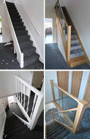 Before And After Glass And Wood Staircase Renovations - Medlock ... Glass Stair Rail With Mount Railing Hdware Ot And In Edmton Alberta Railingbalustrade Updating Stairs Railings A Split Level Home Best 25 Stair Railing Ideas On Pinterest Stairs Hand Guard Rails Sf Peninsula The Worlds Catalog Of Ideas Staircase Photo Cavitetrail Philippines Accsories Top Notch Picture Interior Decoration Design Ideal Ltd Awnings Wilson Modern Staircase Decorating Contemporary Dark