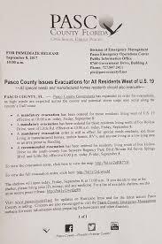 am agement bureau open space pasco county schools on mandatory evacuation information