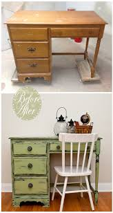 Vaseline Distressed Desk Before After