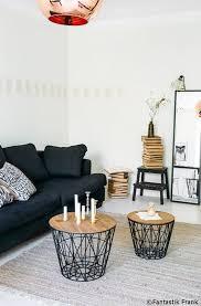 déco canapé noir blanc bois et noir pinteres