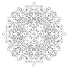 Complex Mandala Coloring Pages Printable Page
