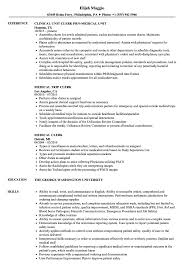 Medical Clerk Resume Samples | Velvet Jobs School Clerk Resume Sample Clerical Job Zemercecom Accounting 96 Rumes Medical Riverside Clinic 70 Elegant Models Of Free Samples Template Great Images Gallery Objective For Entry Level Luxury For Pin On And Format Resume Worker Example Writing Tips Genius Administrative Assistant In Real Estate New Lovely Library Examples Office How To Write A Clerical Eymirmouldingsco Sample Vimosoco
