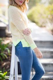 Bright Yellow And Orange Cashmere Sweater For Spring