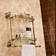 badezimmer regal beste qualität antike messing glas 1