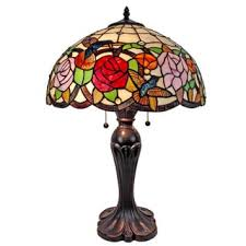 Tiffany Style Glass Torchiere Floor Lamp by Tiffany Style Hummingbirds Flowers Design Torchiere Floor Lamp