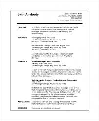 Download Free Sample Massage Therapist Resume 7 Examples In Pdf Of