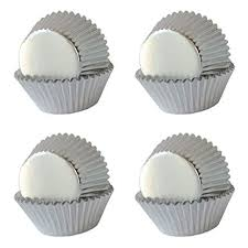 Amazon SophieBella Silver Foil Cupcake Liners Paper Baking Cups Holiday 400 Pcs Regular Size Kitchen Dining