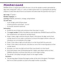 PEMDAS Rule Worksheets
