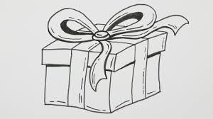 How to Draw a Happy Birthday Gift Box with Bowknot Cartoon ic Doodle 19