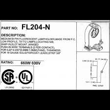 Requires Non Shunted Lamp Holders by T8 T12 Lampholders Bi Pin Socket G13 Non Shunted Fl204