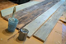 Painting Blue And Grey Planked Pallet Wall Fancy Frugal Life