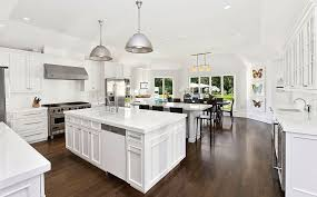 contemporary kitchen with kitchen island by the corcoran
