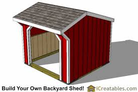Free 8x8 Shed Plans Pdf by Run In Shed Plans Building Your Own Horse Barn Icreatables