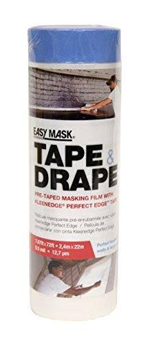 Easy Mask Plastic Pre Taped Drop Cloth - 2.4m x 22m