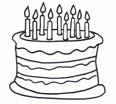Birthday Cake Clipart Black And White Cake Black And White Birthday Cake Clipart Black And White Free Coloring Pages