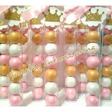 12ct pink white gold princess shimmer gumball favors
