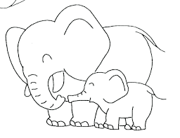 Elephant Coloring Pages Pdf Elmer The Page Free Baby Template Pictures Cute Adults Full Size