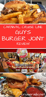 Review: Guy's Burger Joint On Carnival | Cruise Radio Burger Bar Tgi Fridays Review Fat Guys Brings Thunder Sweet Caroline Gourmet Burgers Bar And 30 Hot New Burgers For Labor Day Weekend Deluxe Dog Toppings Schwans Top 10 Toppings Posts On Facebook Anatomy Of A Handcrafted 5280 For Hamburgers Dinners Losing Weight Drafts Opens With Concepts In Ding Dishing Park 395 Best Recipes Dogs Images Pinterest Just The Way He Likes It A Fathers Cheeseburger Peanut Our Menu Fuddruckers