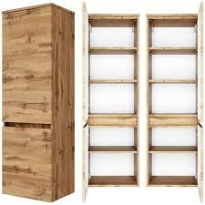 lomadox hochschrank lauria 03 badezimmer midischrank 40 cm in wotaneiche nb bxhxt ca 40x130x35 cm kaufen otto