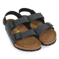 birkenstock men u0026 039 s milano back strap birko flor sandal basalt