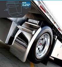100 Poly Truck Fenders 1 Pair 24 X 24 Black Quarter Semi United Pacific