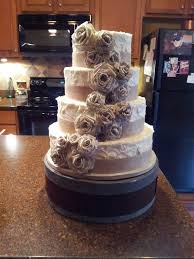 Rustic 4 Tier Red Velvet Wedding Cake With Handmade Book Page Roses And Burlap Ribbon