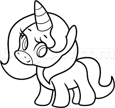 Unicorn Simple Coloring Page Printable
