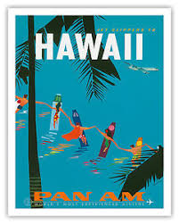 Image Is Loading Pan Am HAWAII Surfers CLIPPER 1959 Vintage Airlines