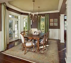 Traditional Dining Room With Green Ceiling And Drapes Design LG Vale
