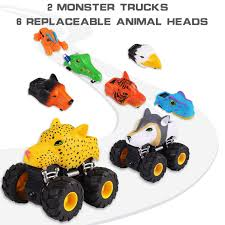 100 Monster Truck Toys For Kids UDS 2Packs Toy S Inertia Car Friction