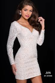 long sleeve fit beaded lace short dress underlay
