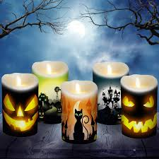 Halloween Flameless Taper Candles by Customize Your Luminara Candles For Halloween With Decorative