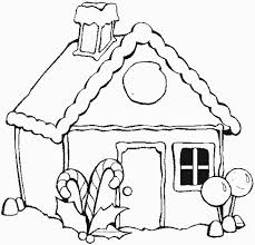 Christmas Gingerbread House Coloring Page