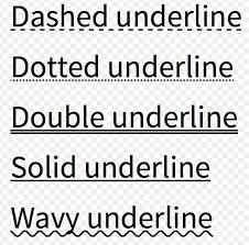 Text Decoration Underline Style by 7种方式实现web下划线 厦冰的博客