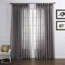light gray popular polyester and linen custom sheer curtain