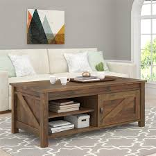Living Room Table Sets With Storage by Amazon Com Ameriwood Home Farmington Coffee Table Rustic