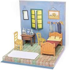 vincent gogh schlafzimmer in arles pop up karte