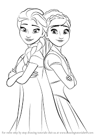 Coloring Page Fabulous Frozen Anna Drawing How To Draw Elsa And