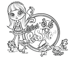 Cute Animals Coloring Pages Littlest Pet Shop Free Print Animal Books Sheets Zoe To Full