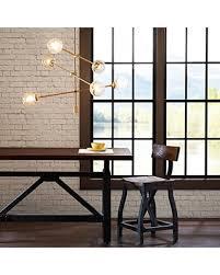 Cyrus Modern Brass Industrial Chandelier 6 Bulb Sputnik Dining Room Lighting Fixtures Hanging Ceiling Light