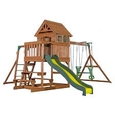 Shop Backyard Discovery Springboro Residential Wood Playset With ... Backyard Adventures Wooden Playsets Gym Sets American Sale Swing Give The Kids A Playset This Holiday Sears Swingsets And Nashville Tn Grand Sierra Natural Green Grass With Pea Gravel Garden For 131 Best Images On Pinterest Swings Interesting Design And Plus Gorilla Wilderness Do It Yourself Thunder Ridge Set Shop Discovery Shenandoah Residential Wood With Review Adventure Play Atlantis Dallas Catalina Playground Outdoor
