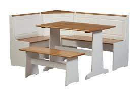 Corner Kitchen Table Set With Storage by Amazon Com Linon Home Ardmore Nook Set With Pine Accents White