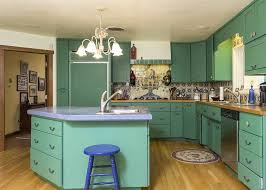 eclectic kitchen with flat panel cabinets custom in las