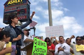 Connie Leyva D Chino Promises Former Ashley Furniture Employees During A